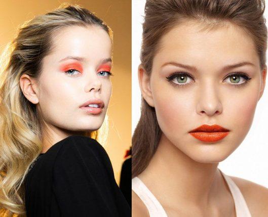 maquillaje en tonos coral