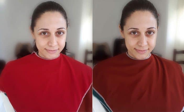 análisis de color tonos rojos